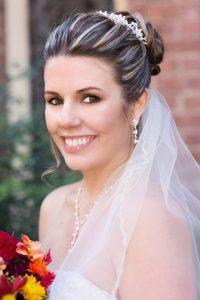 bridal hair bun