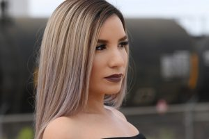 woman straightened hair